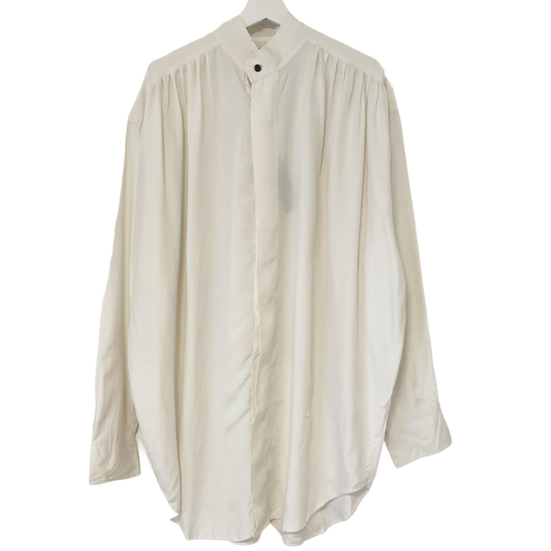 Dead Stock 90's GOOUCH Silk Shirt 【 White 】