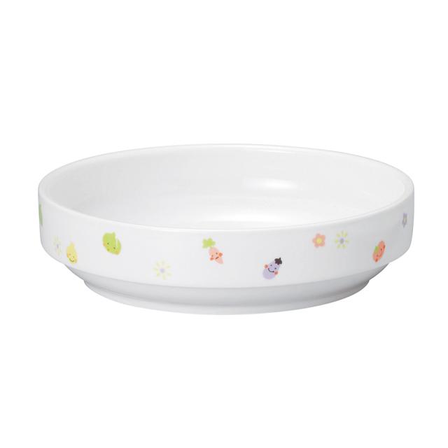 【1715-1230】強化磁器 17cm すくいやすい食器 ぷちやさい