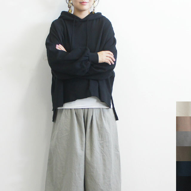 NARU ナル セントラル裏毛ワイドパーカ レディース パーカー スウェット フード 長袖 無地 ゆったり 通販 (品番630022)