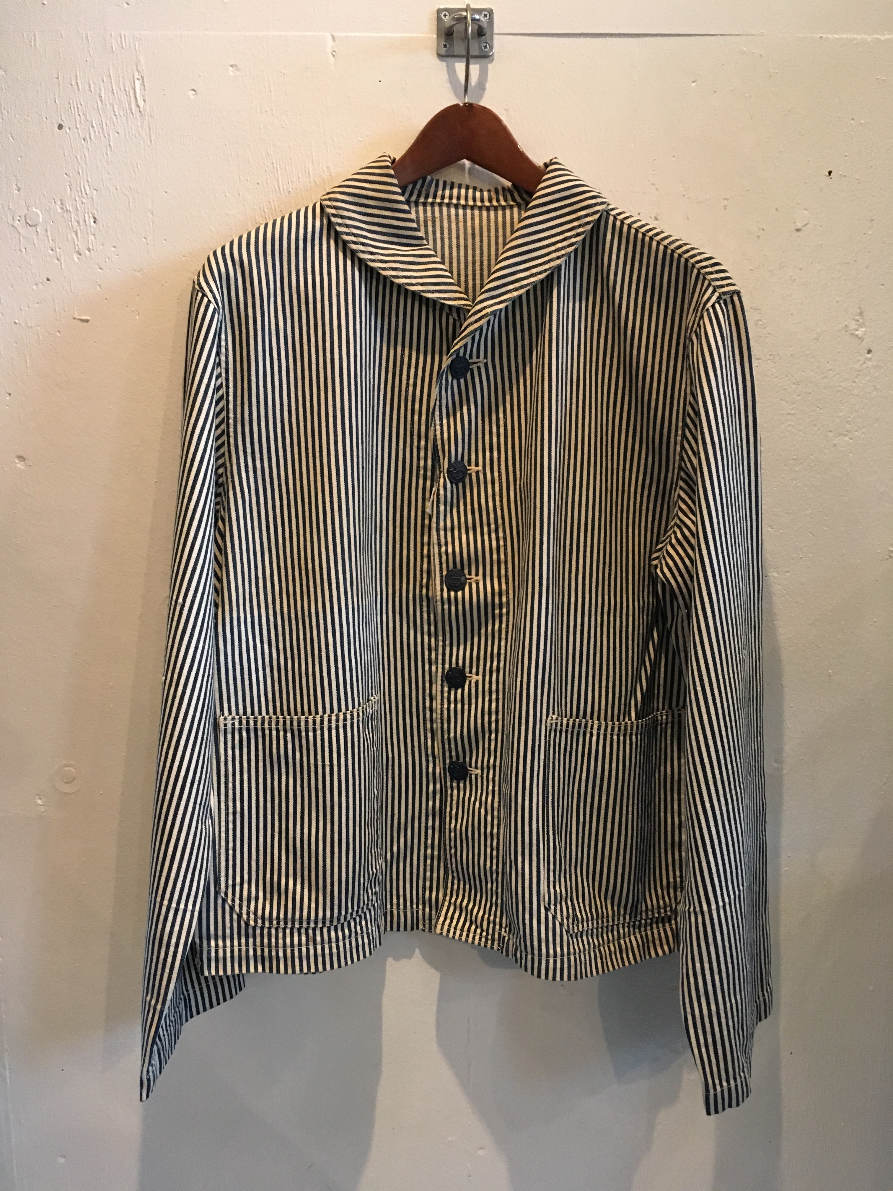 1940's U.S.NAVY HICKORY COVERALL PW JK