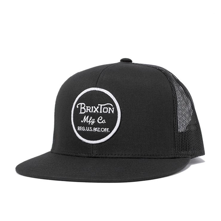 BRIXTON (ブリクストン) Wheeler メッシュ キャップ BLACK / BLACK (ブラック / ブラック)