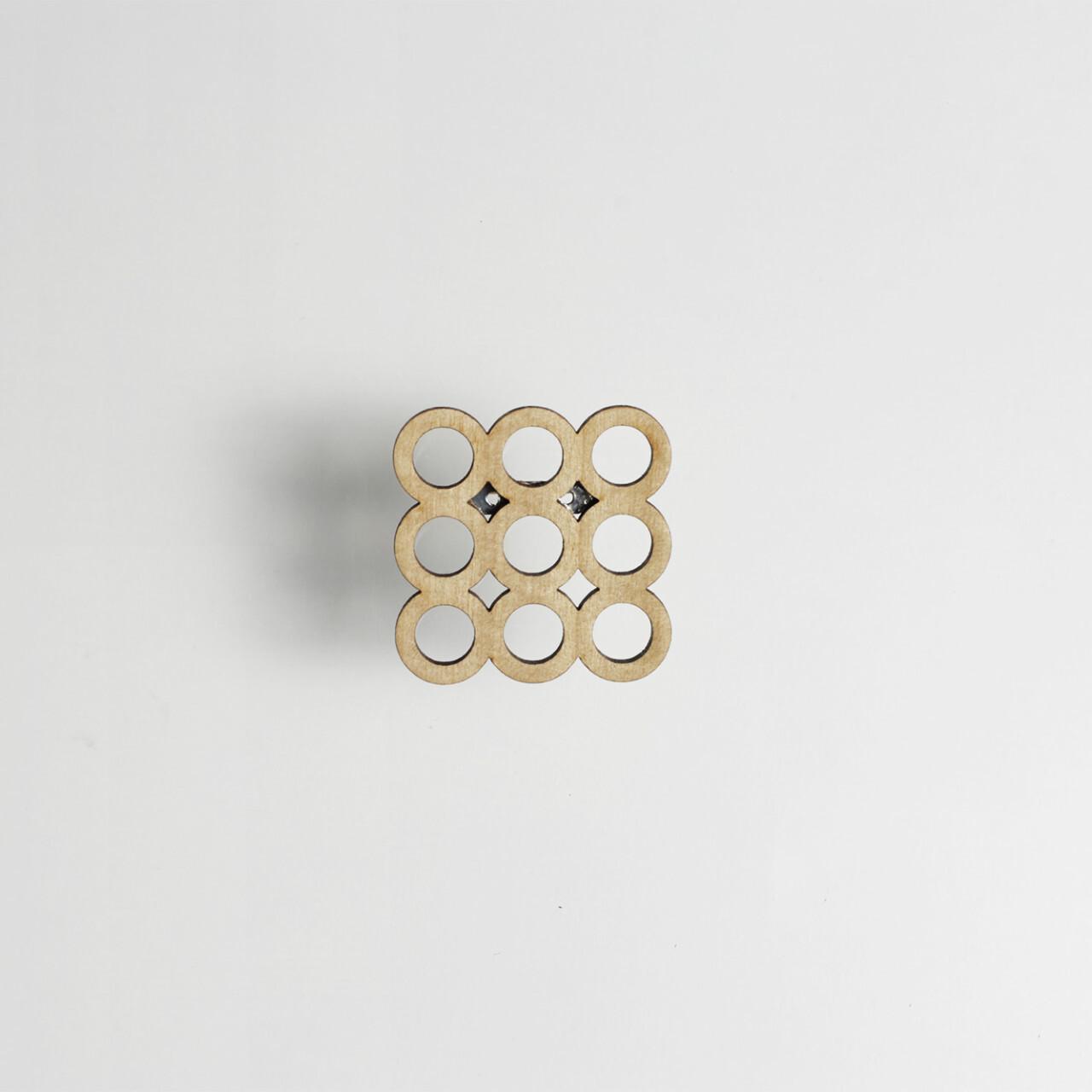 brooch circle L / まるブローチ Lサイズ