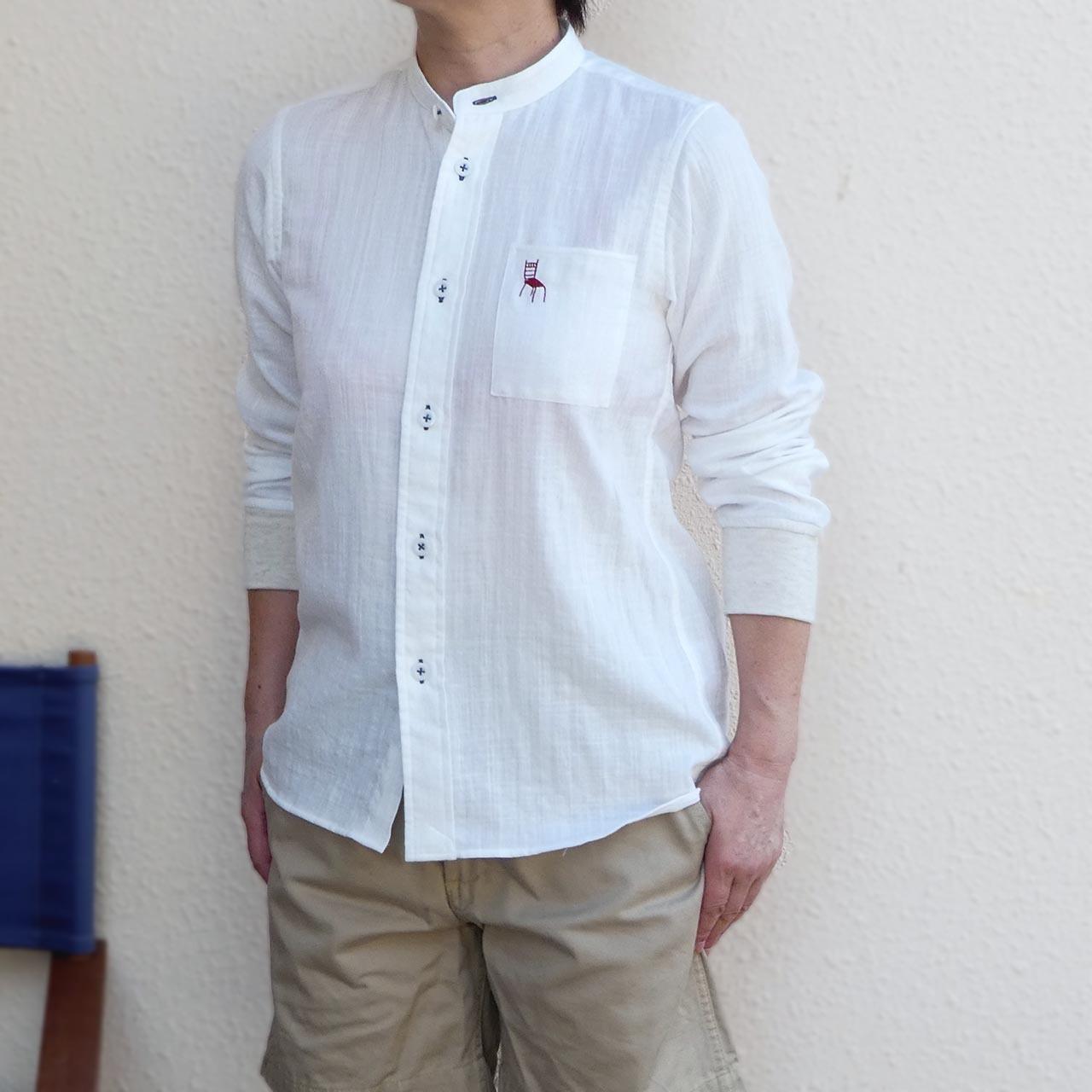 HOME ワークシャツ ダブルガーゼ