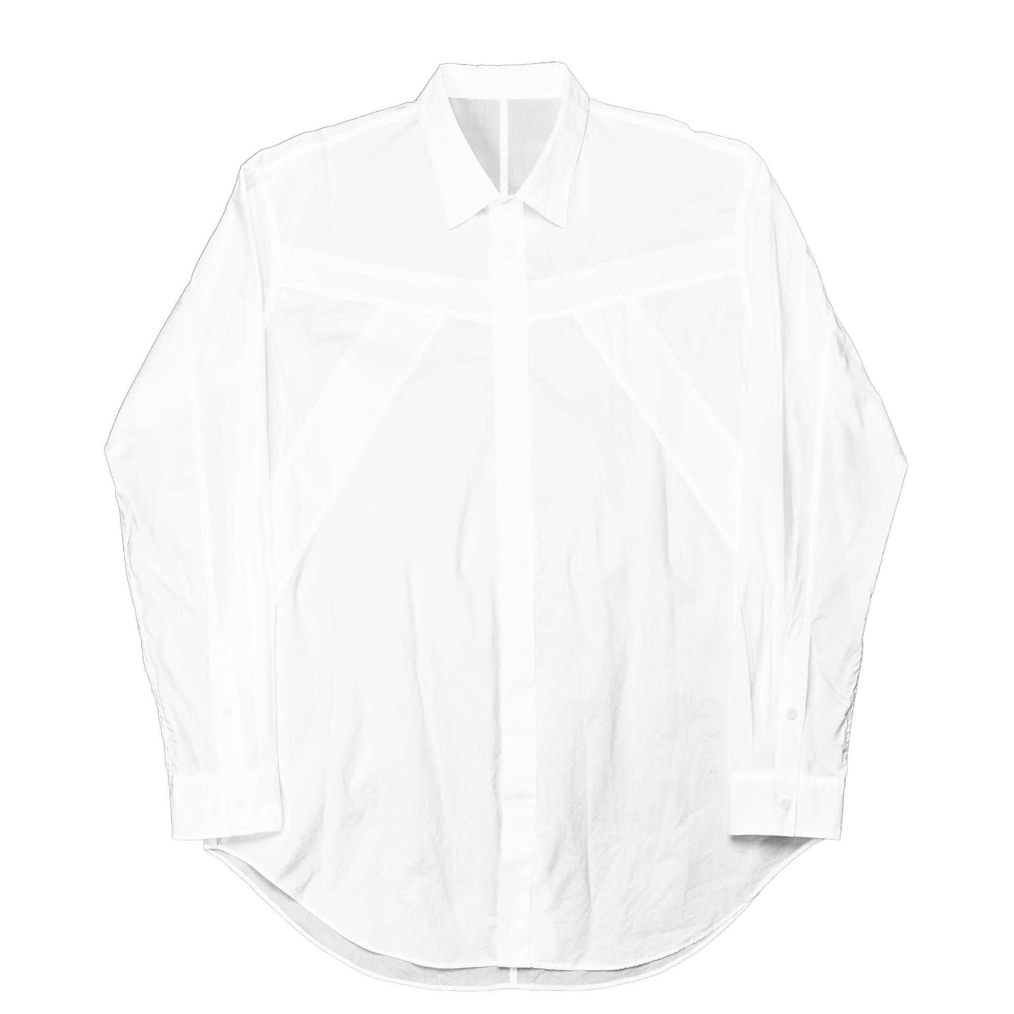 647SHM4-WHITE / シームドシャツ