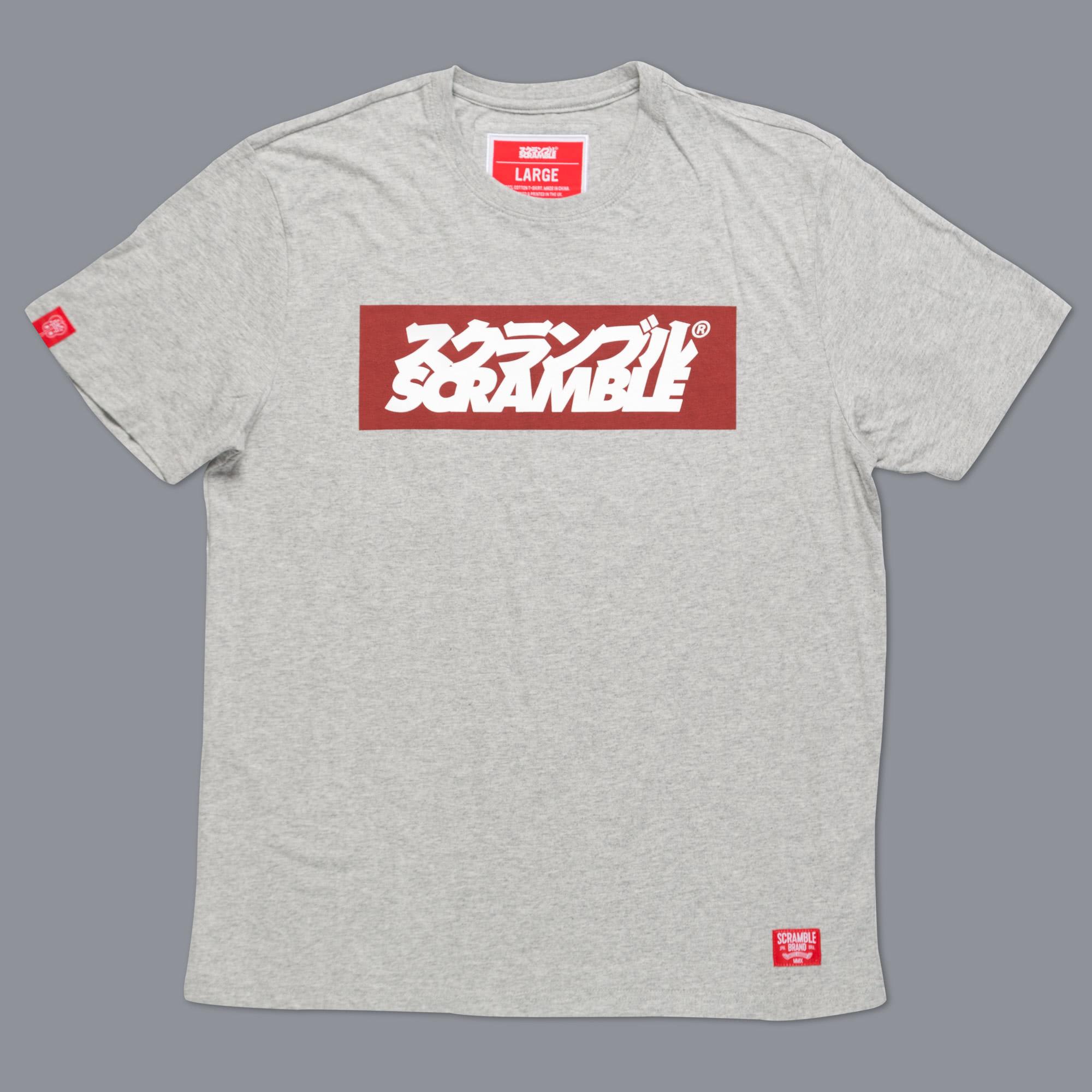 SCRAMBLE ブランドロゴ Tシャツ – グレイ