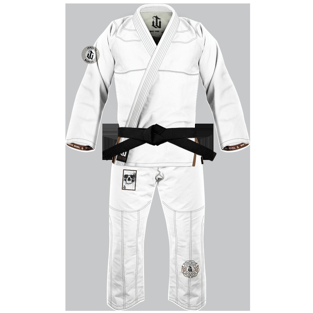 予約注文受付中 WAR TRIBE IMMORTAL WARRIOR GI ホワイト|ブラジリアン柔術衣