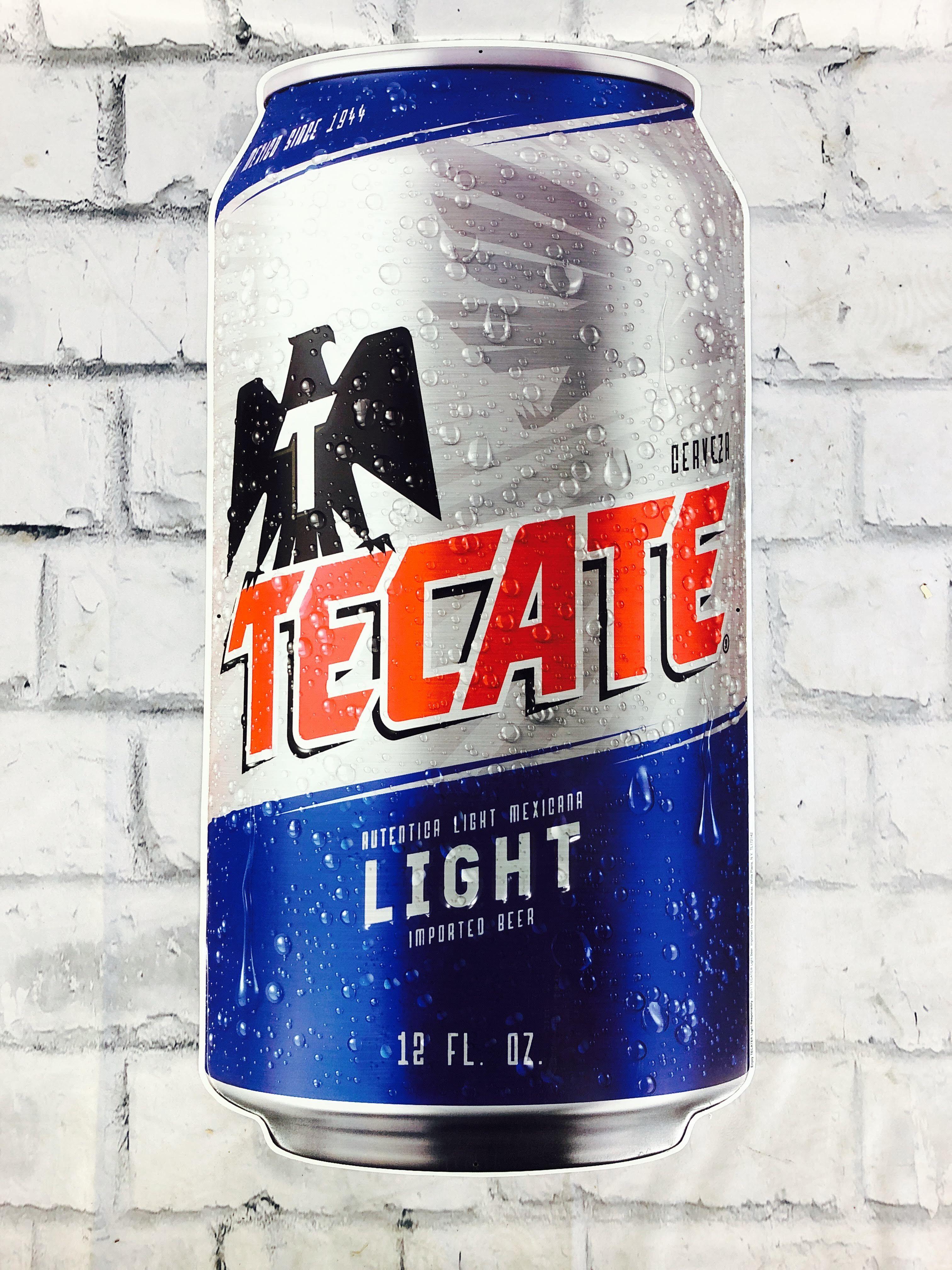 品番0255 サインボード 『TECATE LIGHT(テカテ ライト)』 ブルー 壁掛 看板 アメリカン雑貨