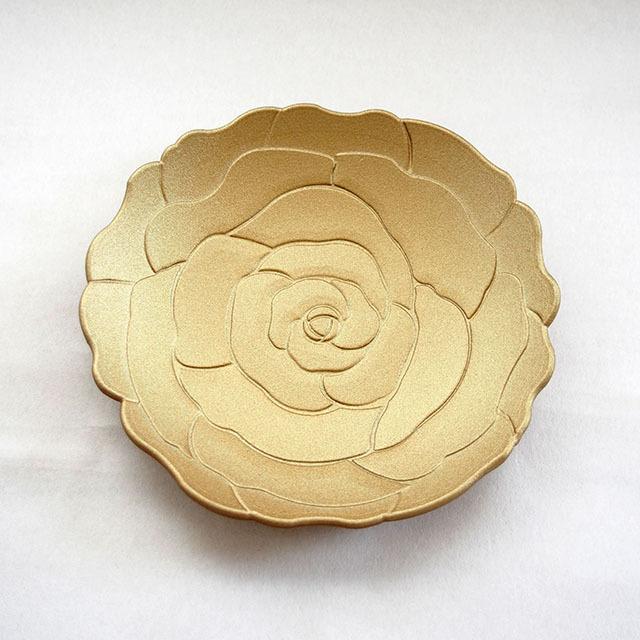 華皿 ぼたん 120mm ゴールド