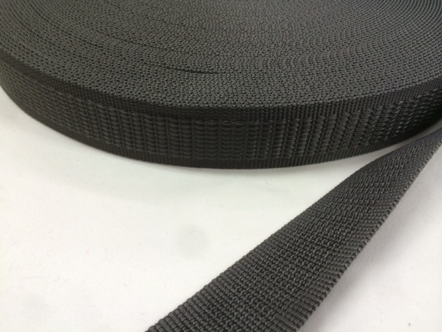 PP 段織 30㎜幅 黒 5mカット