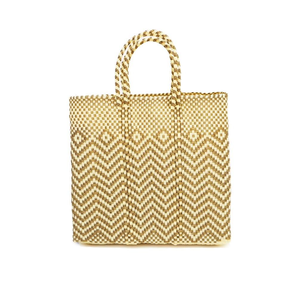 MERCADO BAG JAGGY -  Gold x Cream(S)