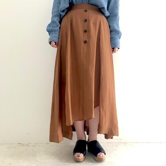 【 Valance Select 】テンセルスリットボタンスカート