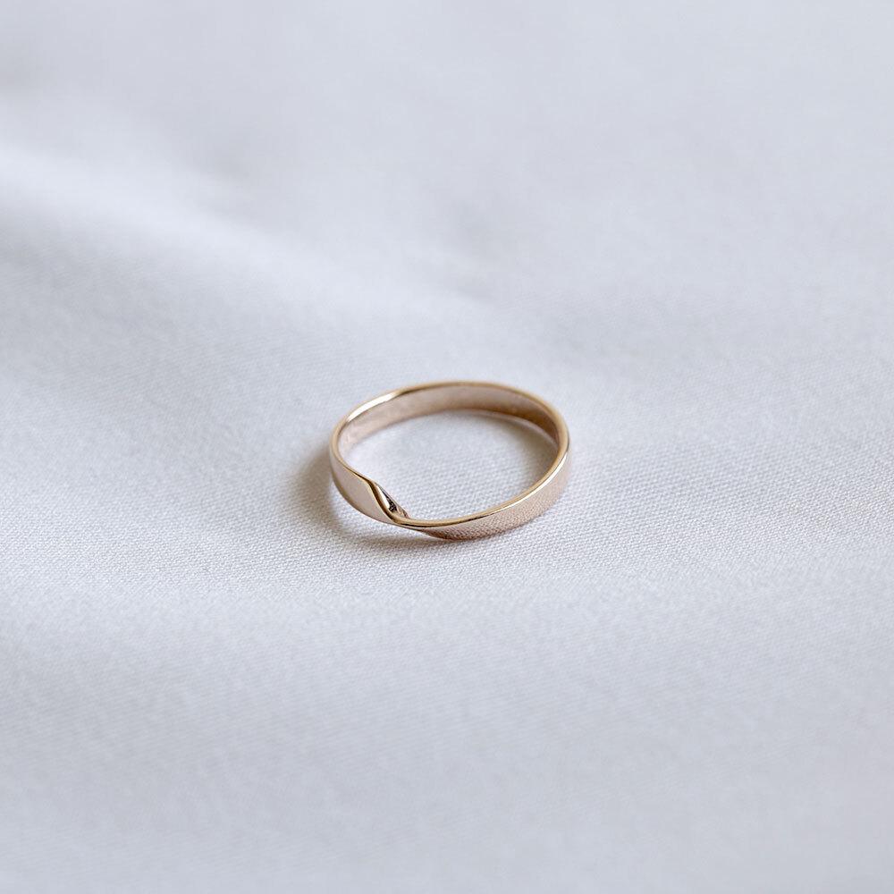 FOLDING METAL / pinky ring - yellow gold
