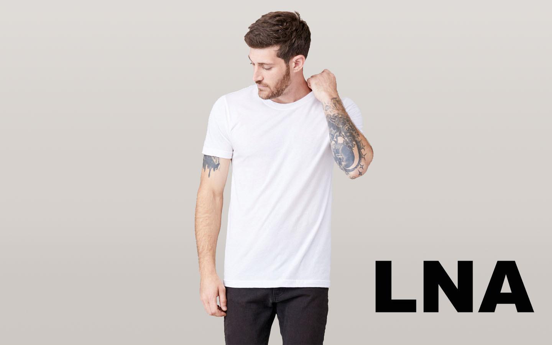 LNA/エルエヌエー ショートスリーブクルーネックシャツ/ホワイト