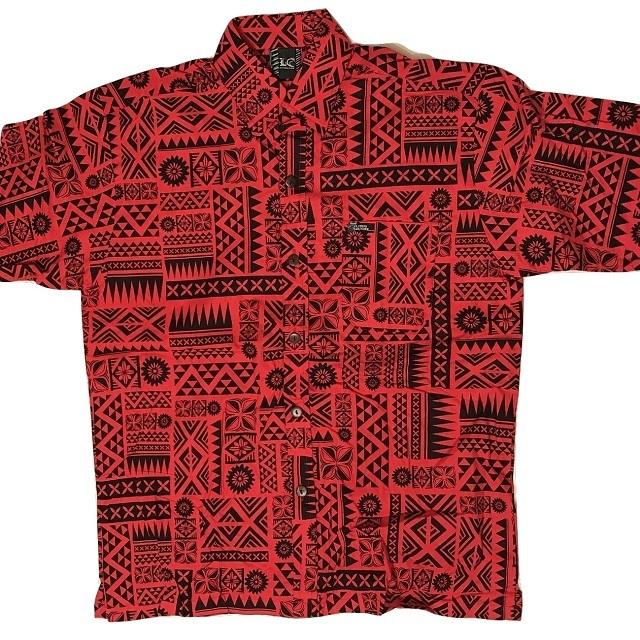 Aloha Shirt Red×Black