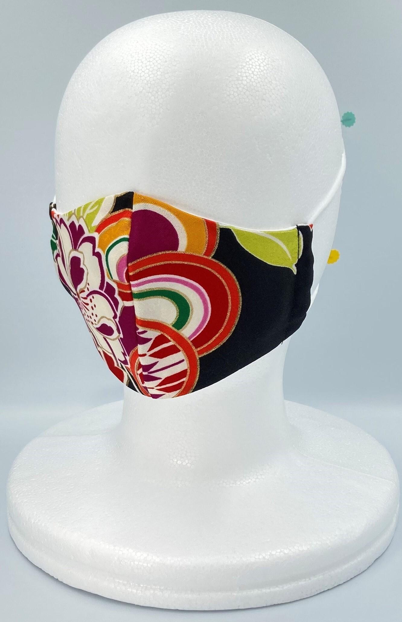リメイク着物マスク A015