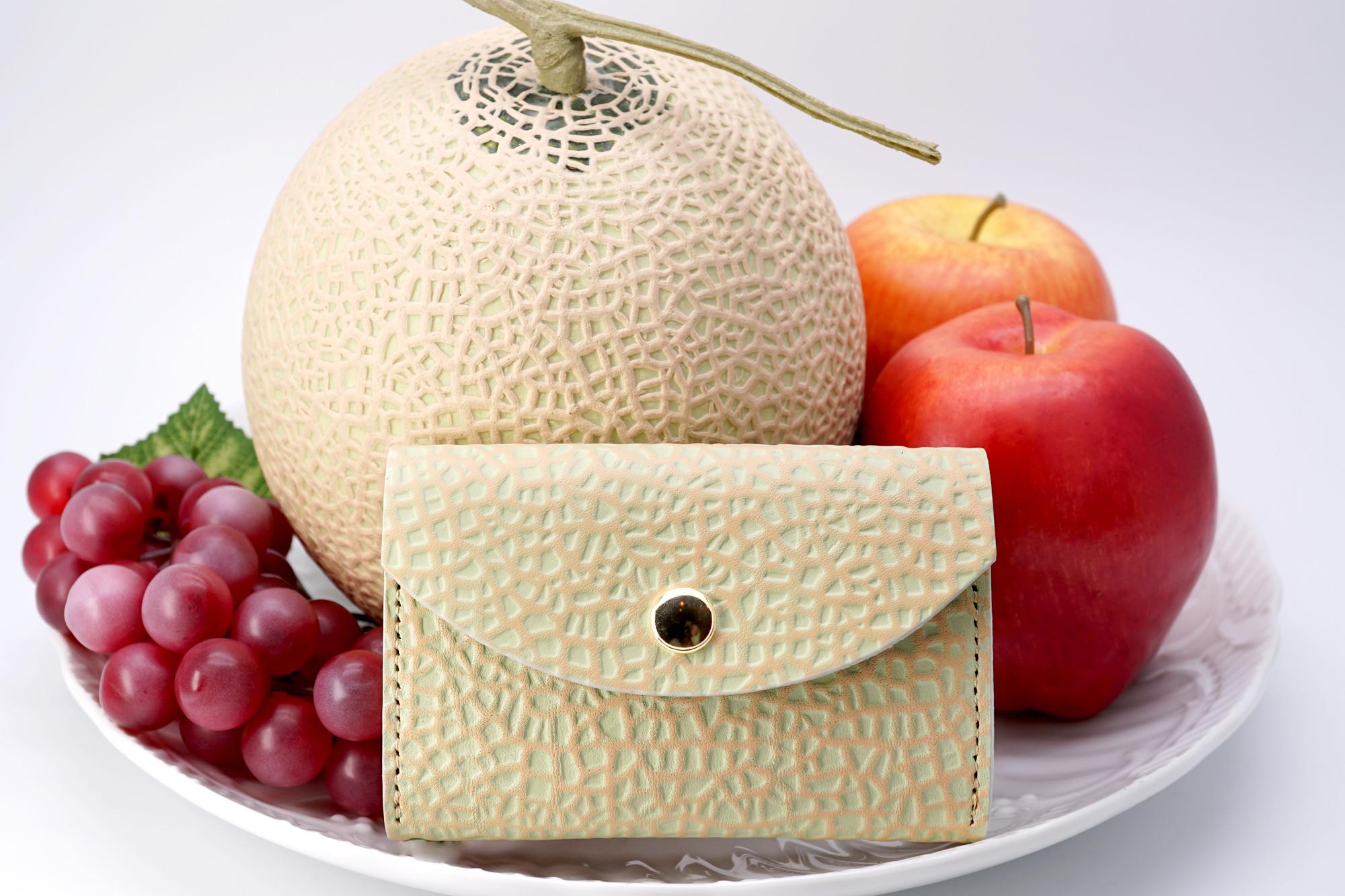 クラウンメロンなカードケース(牛革製名刺入れ)/静岡クラウンメロンコラボ