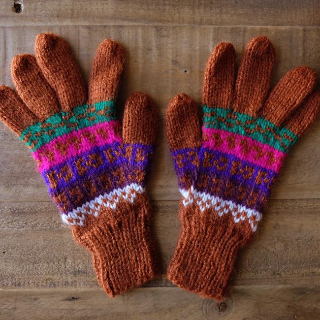 ペルーのアルパカ手袋 / bp22b/ PERU