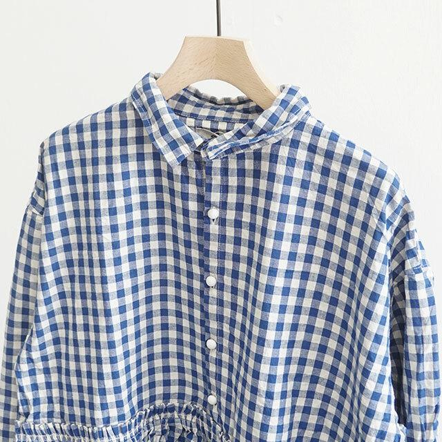 ICHIAntiquites イチアンティークス INDIGO GINGHAM SHIRT インディゴギンガムシャツ (品番500609)