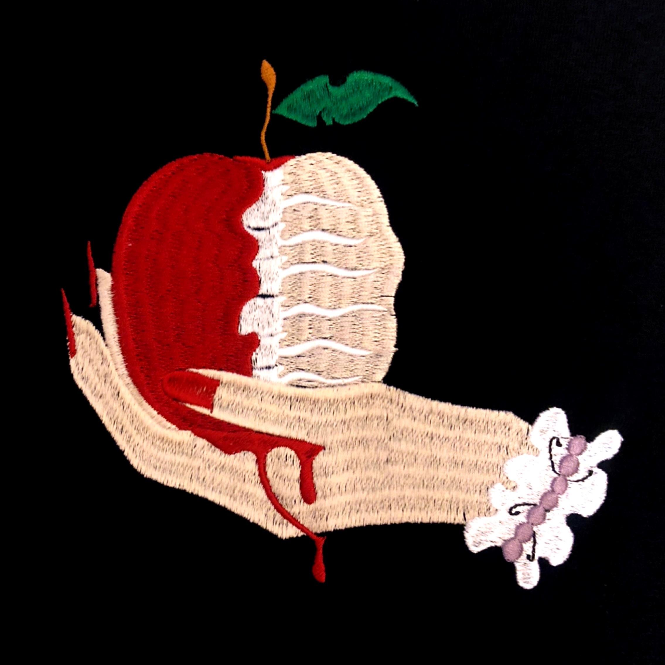 刺繍Tシャツ リンゴ