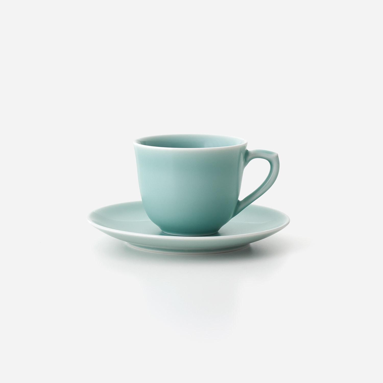青磁 珈琲碗皿