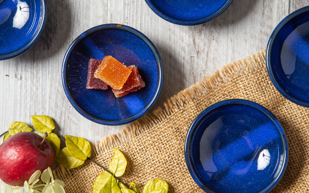 藍青(らんせい)豆皿 5個セット M00011