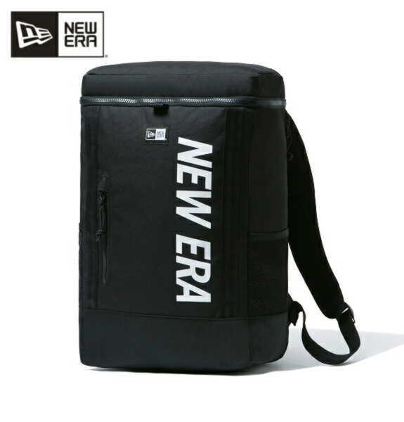 ニューエラ NEW ERA リュック メンズリュック デイパック ボックスパック ミディアム ブラック × ホワイト