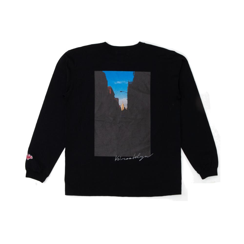 K'rooklyn Long T-Shirt × Koki Sato - Black