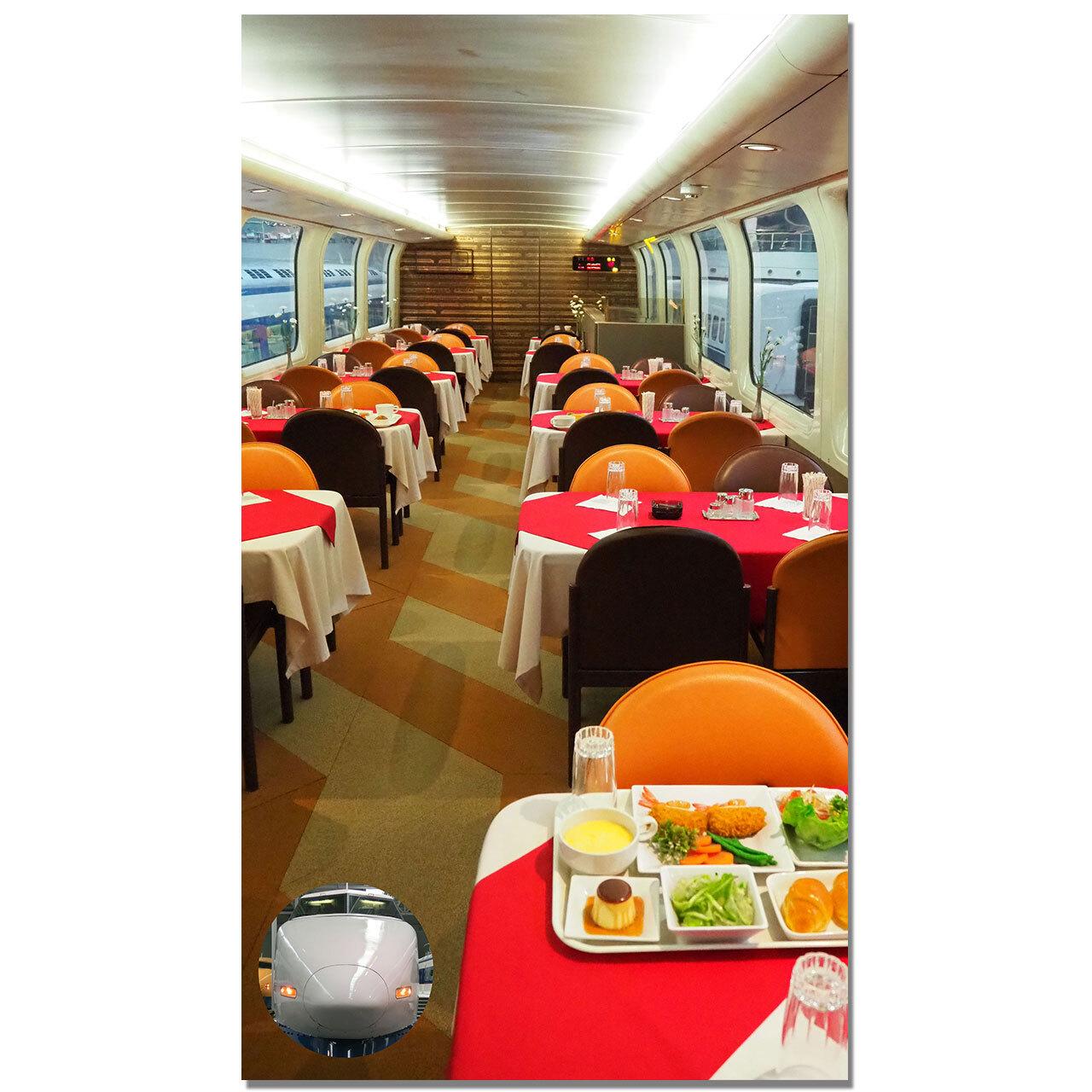 【4589839356855予】新幹線 マルチタペストリーのれん 100系食堂車