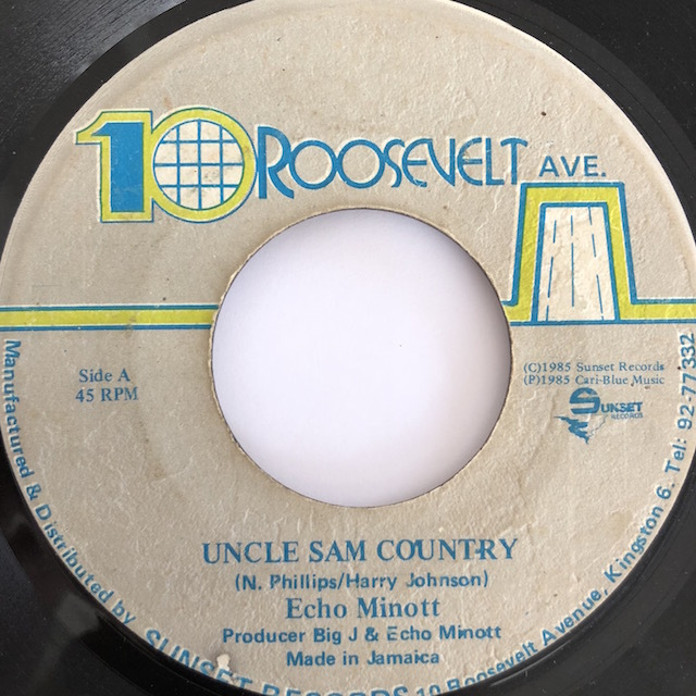 Echo Minott(エコーマイノット) - Uncle Sam Country【7'】