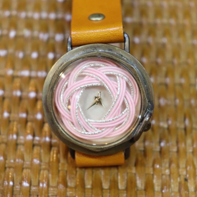 京都水引・アンティック仕様の手作りウォッチ WJ007 桜