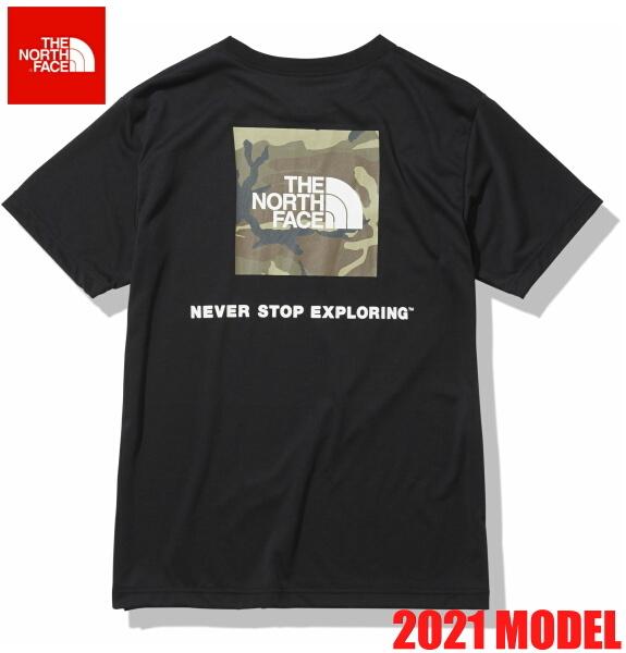 ノースフェイス 半袖 Tシャツ メンズ THE NORTH FACE ショートスリーブスクエアカモフラージュティー 2021年モデル NT32158 ブラック