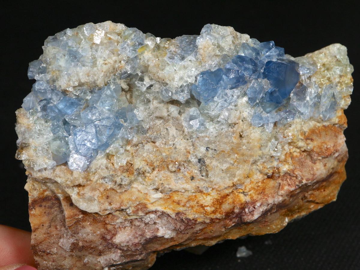 蛍石 + 方鉛鉱 ニューメキシコ アメリカ産 フローライト + ガリーナ 原石 444g FL049