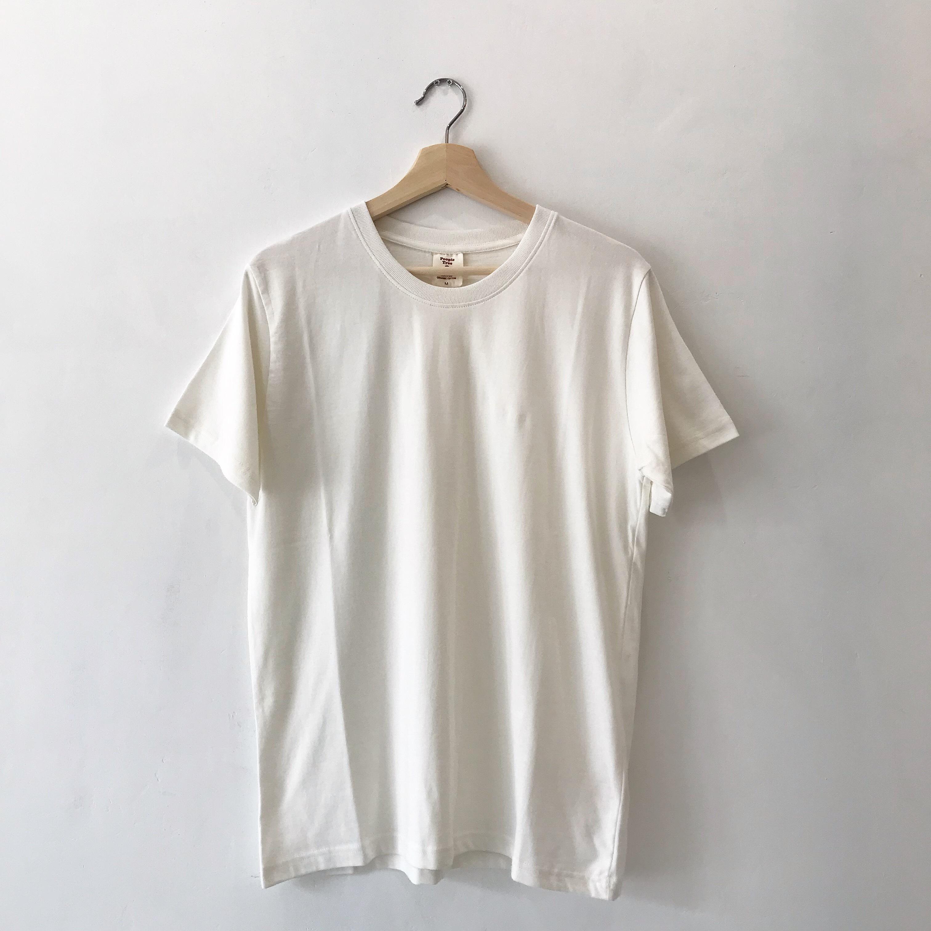 オーガニックコットン・ベーシックTシャツ[エコホワイト]People tree