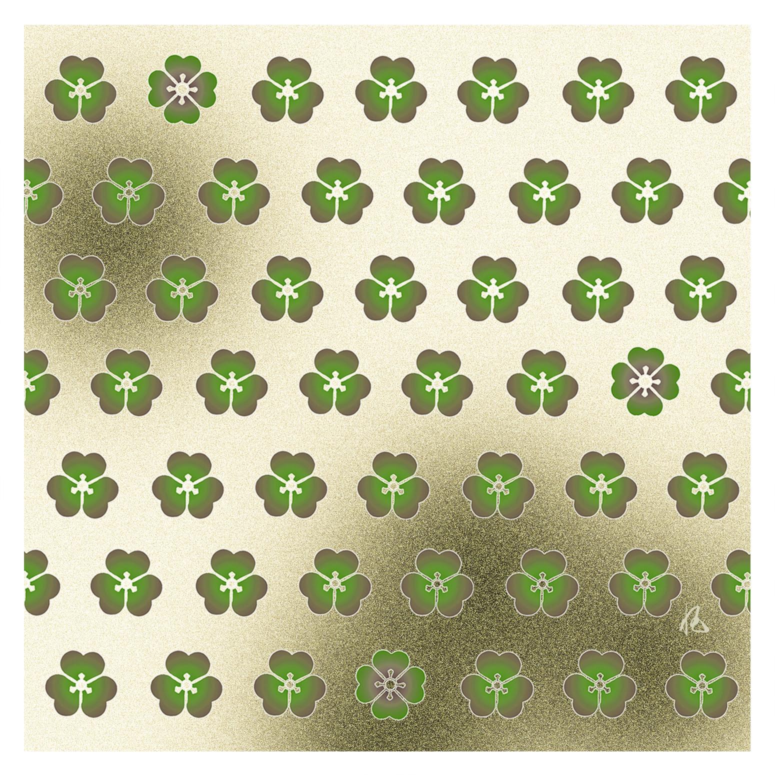 ガラス皿「そめゆら」K-01 かたばみ紋