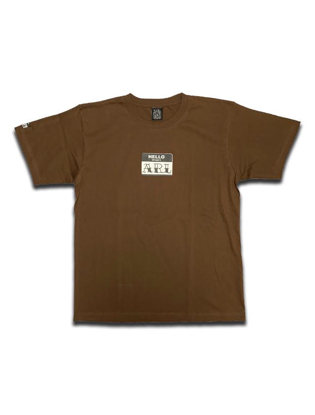 LOGO STICKER TEE brown