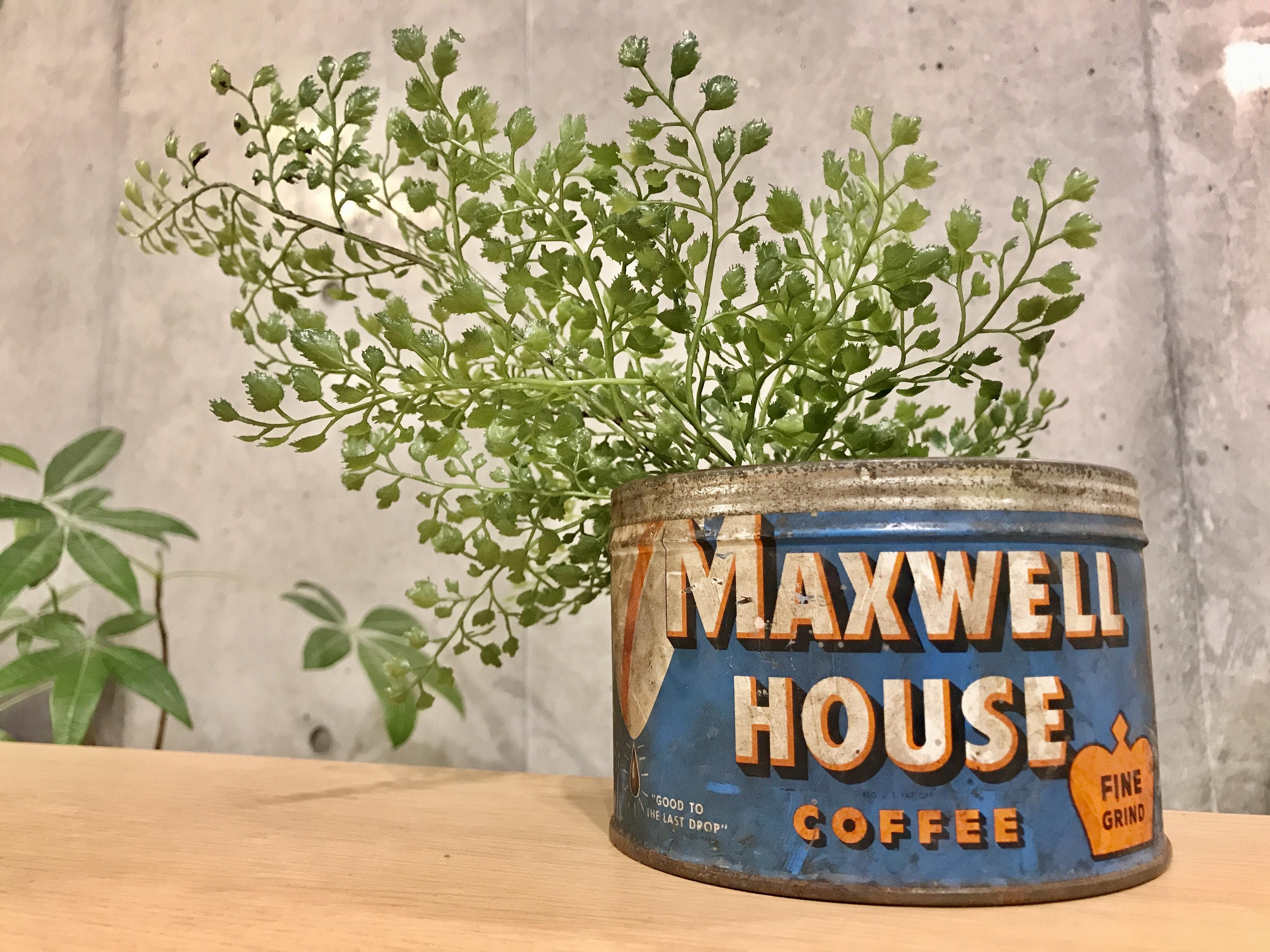 """ビンテージ コーヒー缶 """"MAXWELL HOUSE COFFEE"""""""