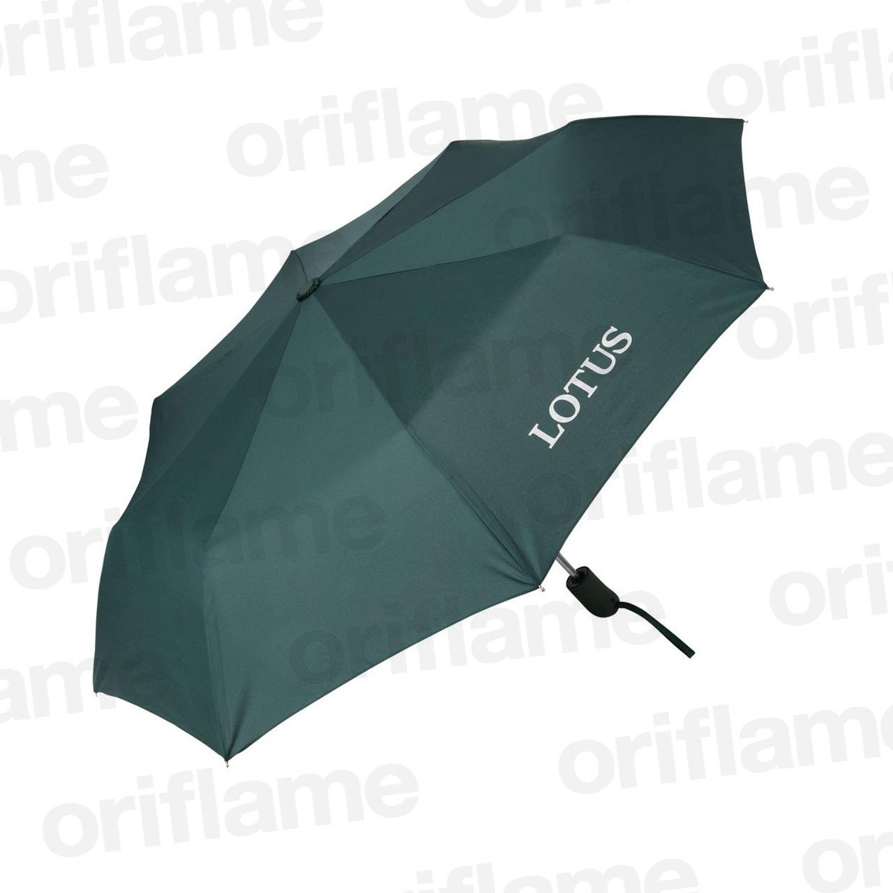 傘・折りたたみ・ロータス・ラバーグリップ・グリーン