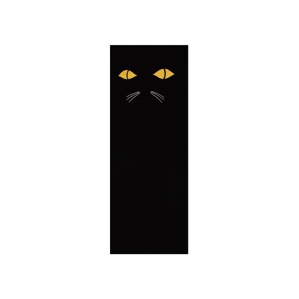猫手拭い(黒猫)