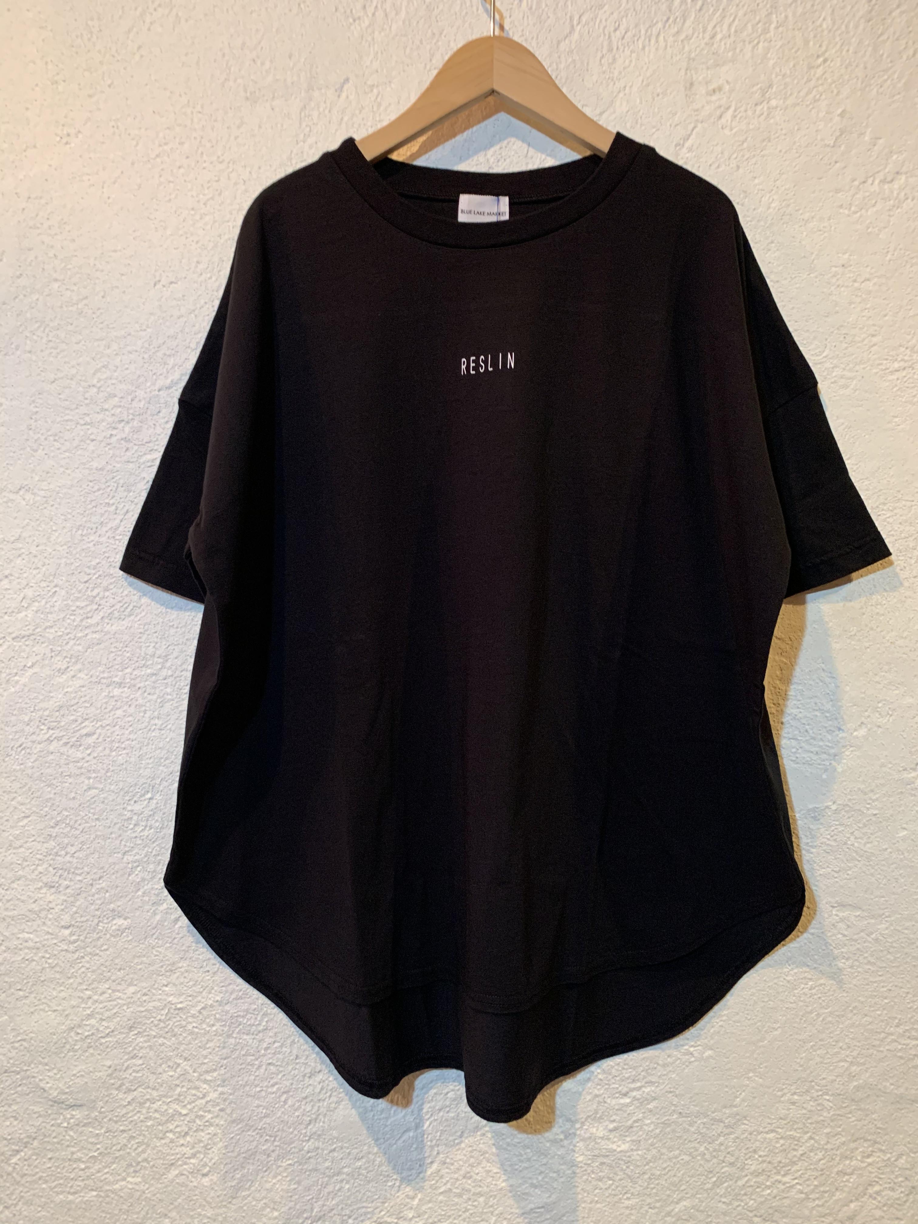 BLUE LAKE MARKET/ドルマンスリットTシャツ ブラック