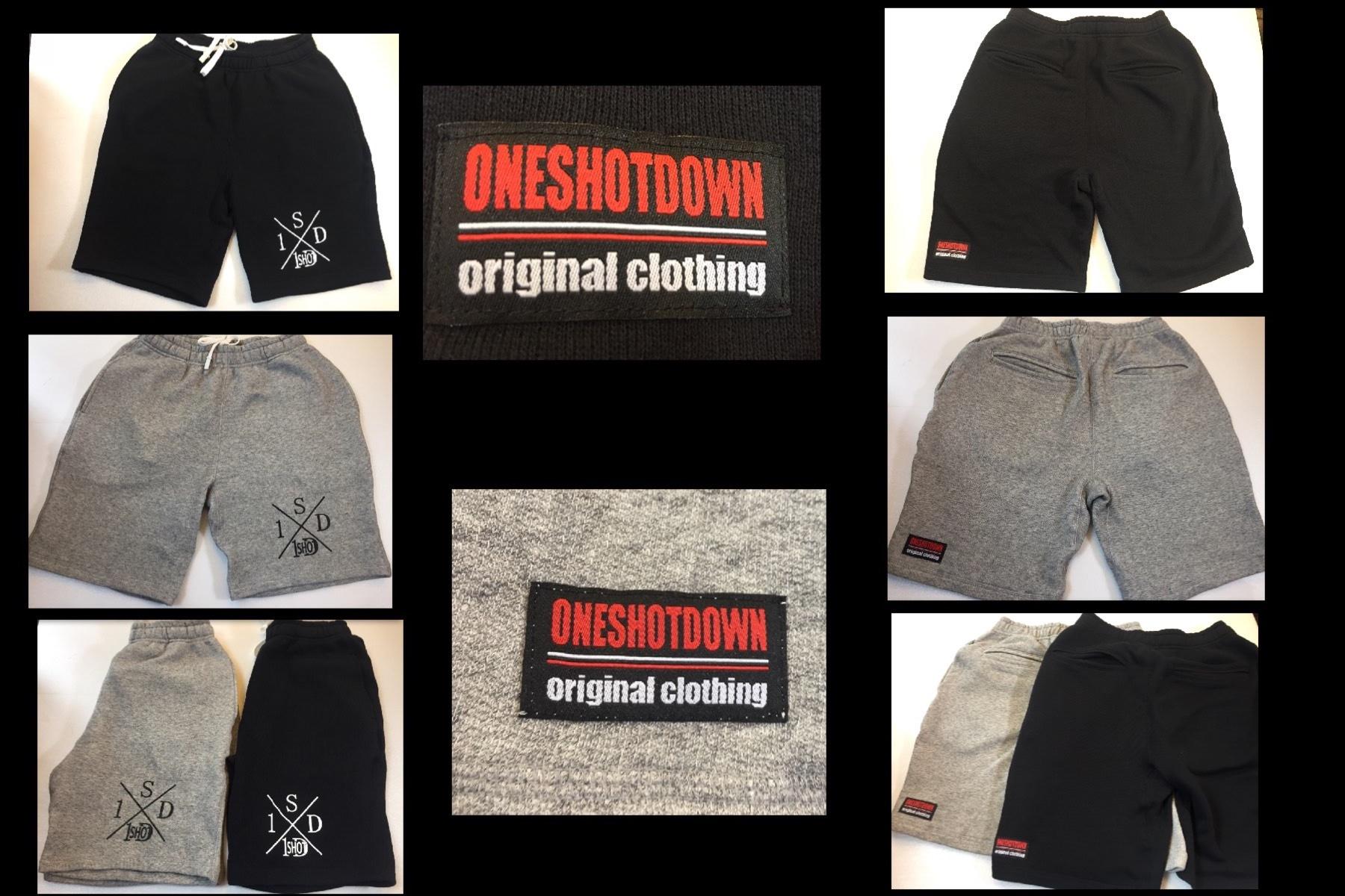 ONESHOTDOWN Xデザイン フレンチテリー ハーフパンツ - 画像4