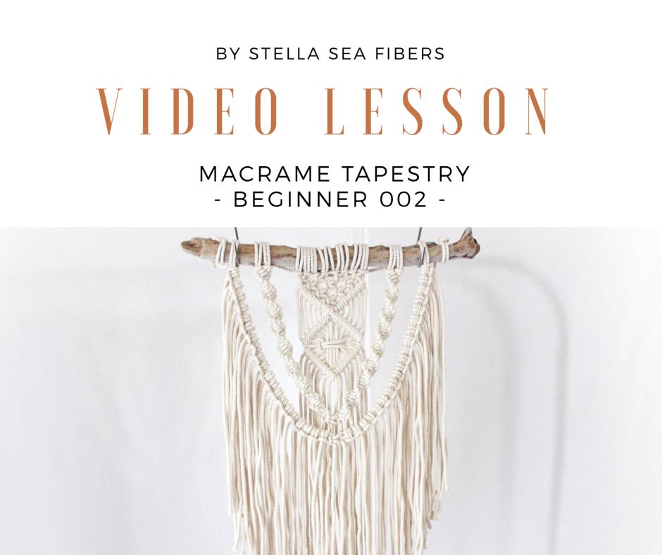 材料なし《VIDEO CLASS》マクラメタペストリー - BEGINNER 002 - 動画+PDF付き