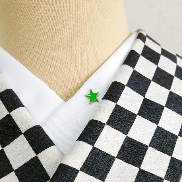 ポップスター☆半衿ピン【グリーン】