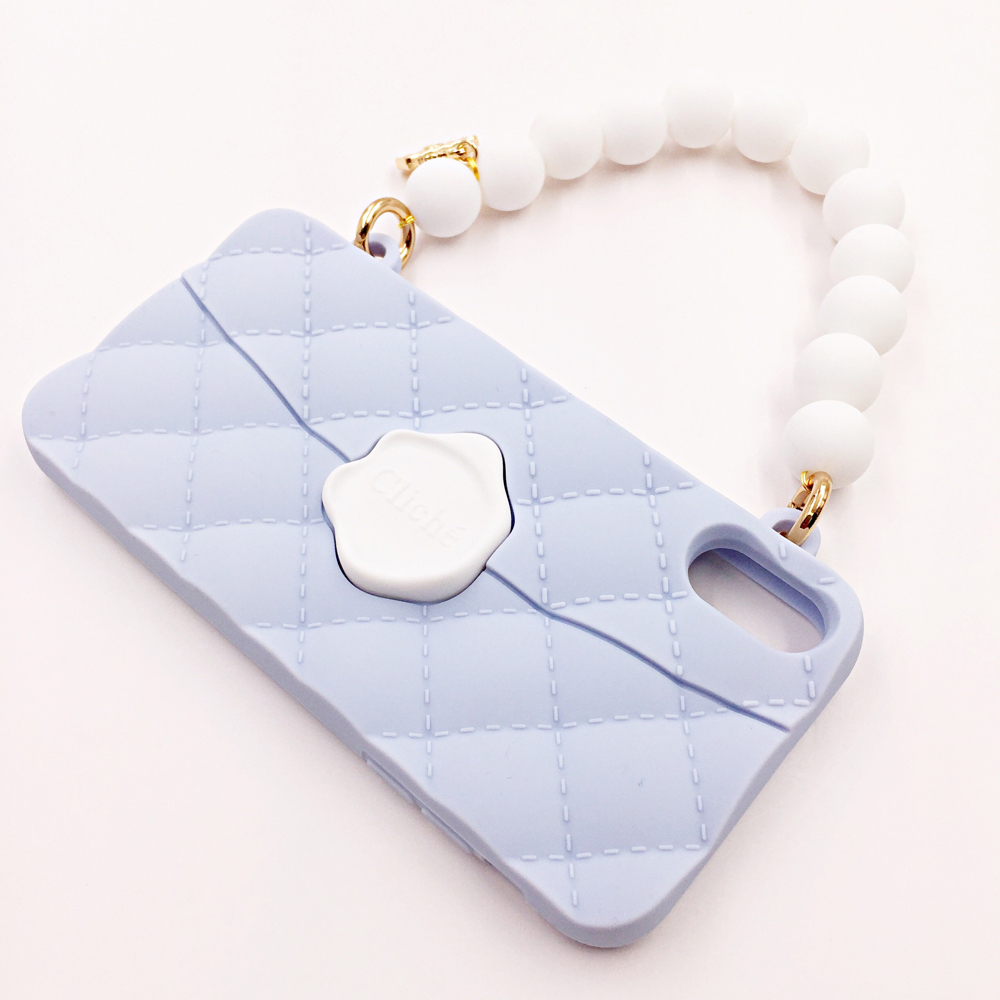 SEAL STAMPED WHITEBEADS HANDLE for iPhoneXR