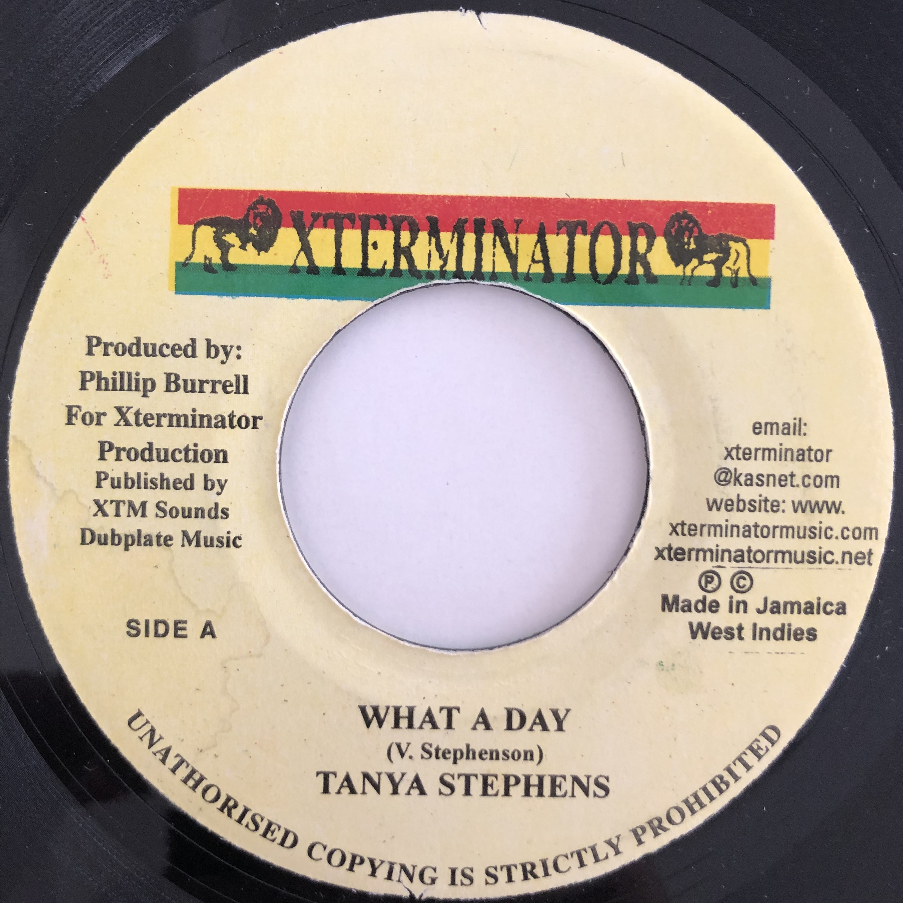 Tanya Stephens(タンヤスティーブンス) - What a day【7-20115】