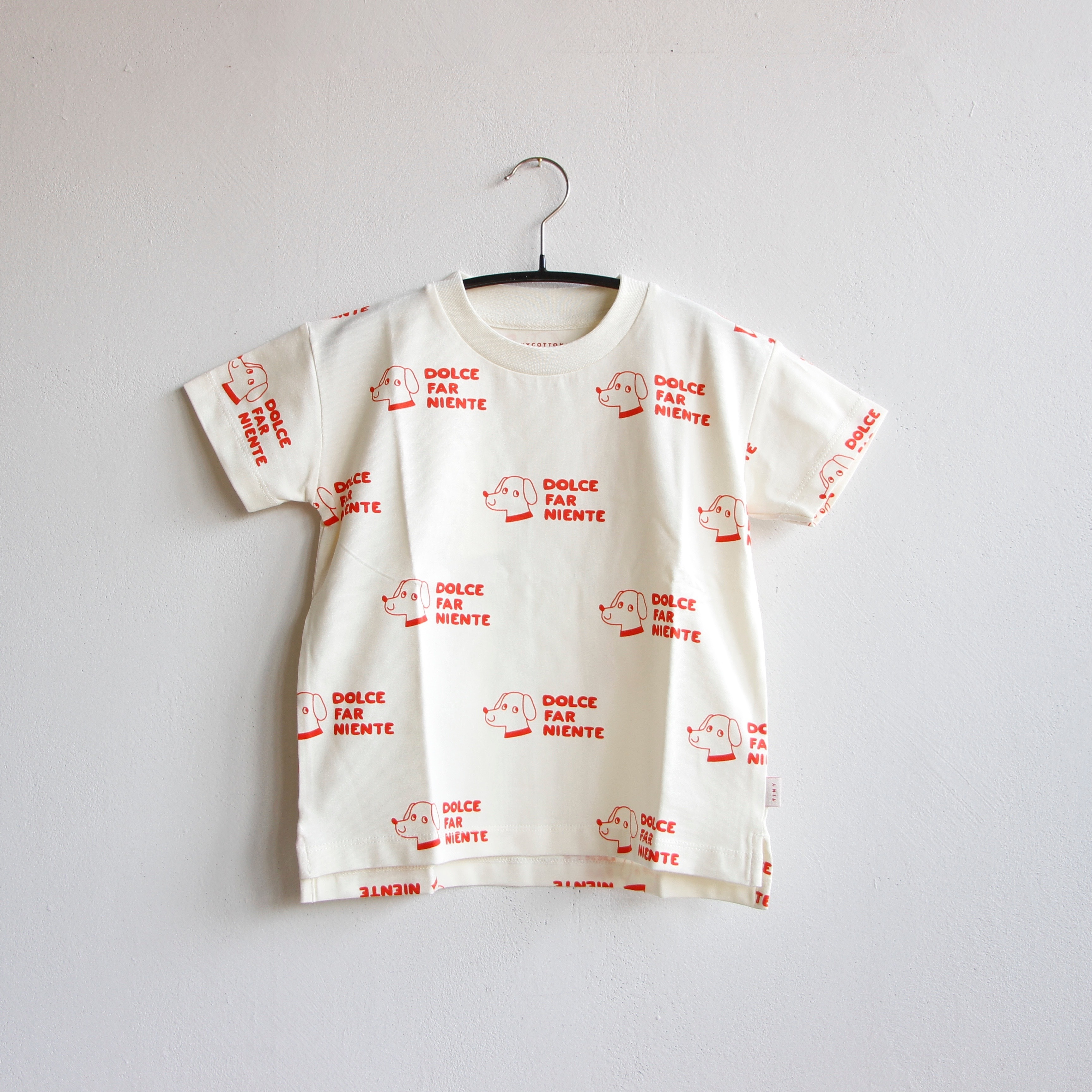 《TINYCOTTONS 2020SS》DOGS TEE / offwhite × red