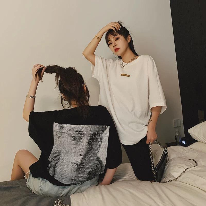man back print t-shirt