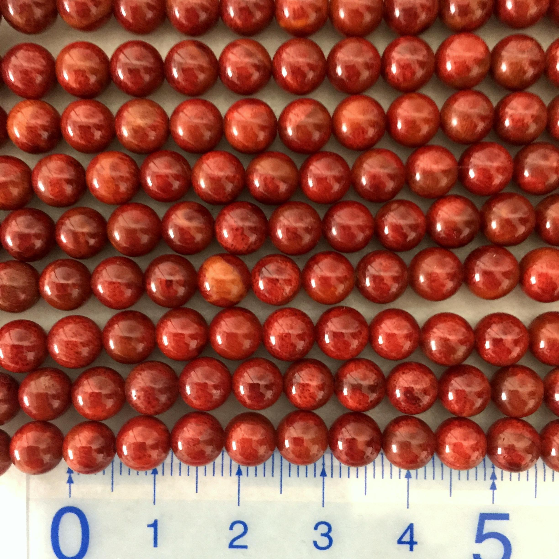 スポンジサンゴ 約6~6.5mm 特濃色 連材【190012AA】