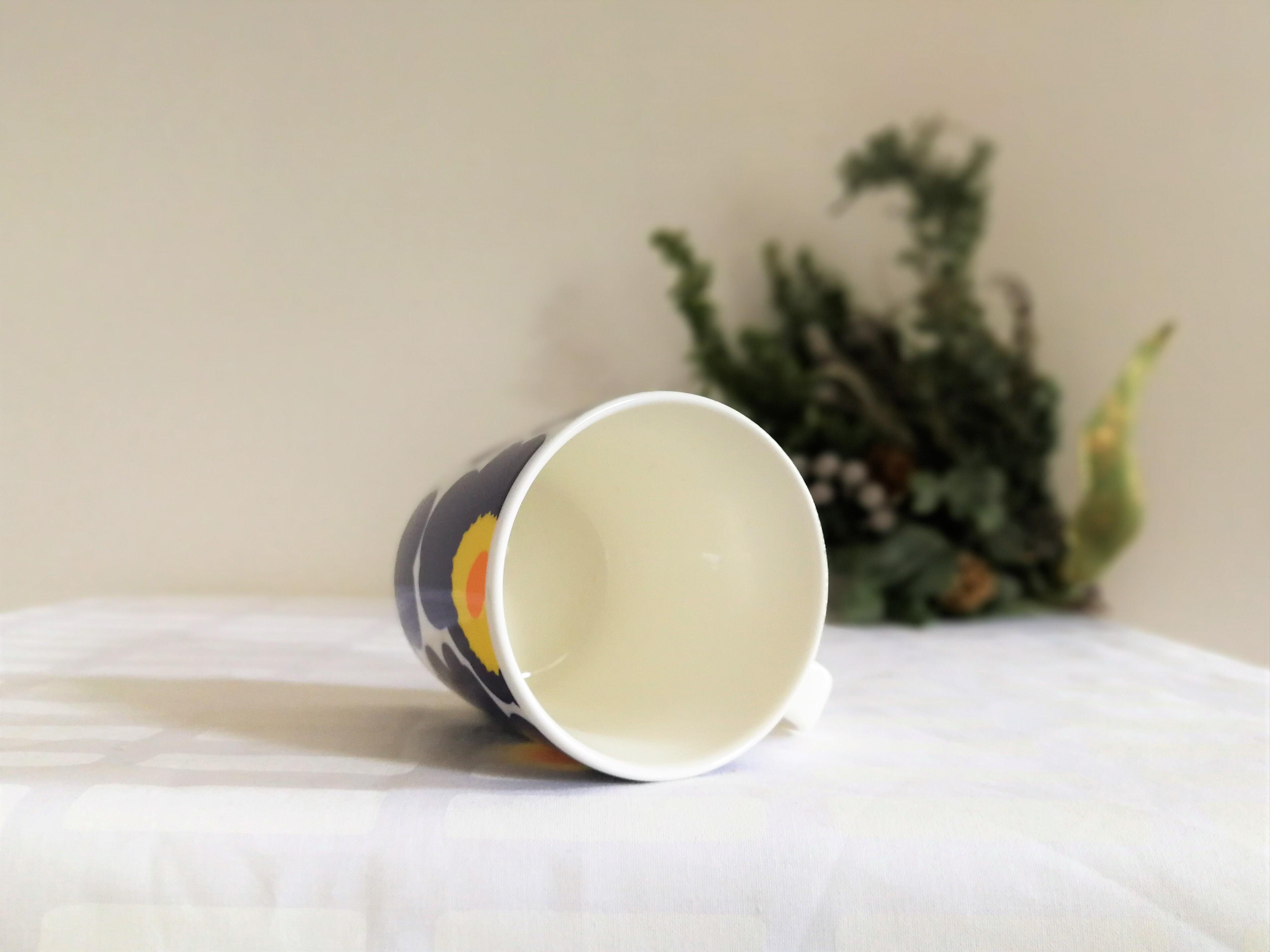 [お得なセット] marimekko マグカップ x iittala  ティーマ  (ウニッコネイビー250ml x ティーマ白15cm プレート)