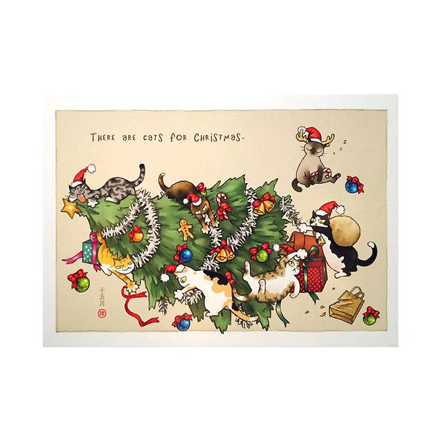 台湾ポストカード「有貓的聖誕節」