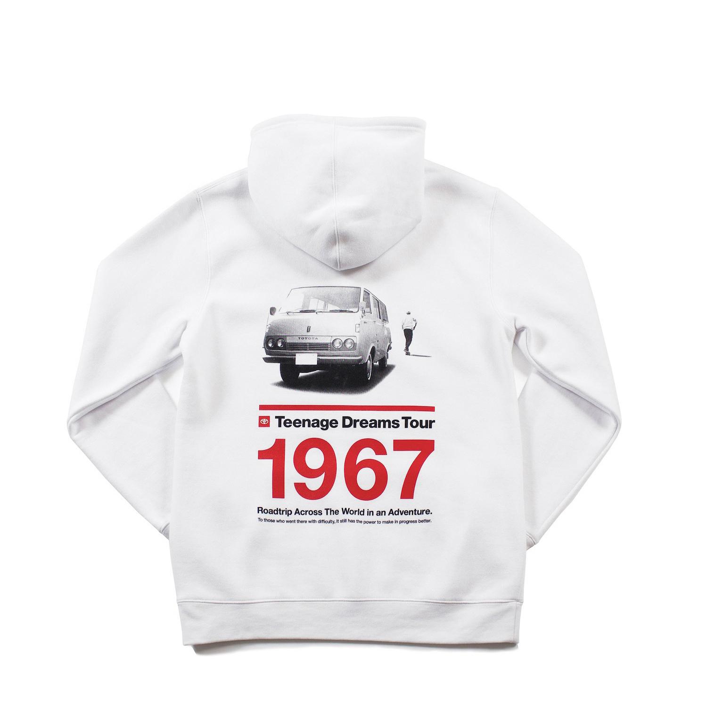 """TOYOTA """"HIACE 1967"""" Hoodie - White"""